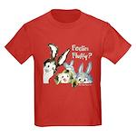 Funny Rabbits Kids Dark T-Shirt