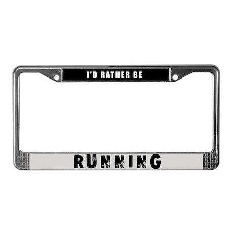 Running License Plate Frame