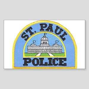 Saint Paul Police Rectangle Sticker