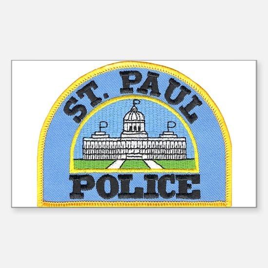 Saint Paul Police Rectangle Decal