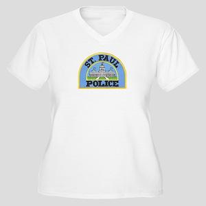 Saint Paul Police Women's Plus Size V-Neck T-Shirt