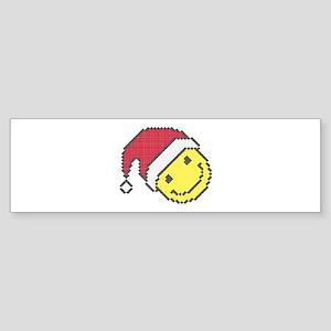 Christmas smiling face Bumper Sticker