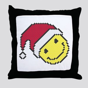Christmas smiling face Throw Pillow