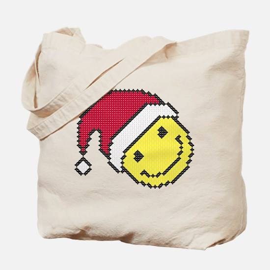 Christmas smiling face Tote Bag