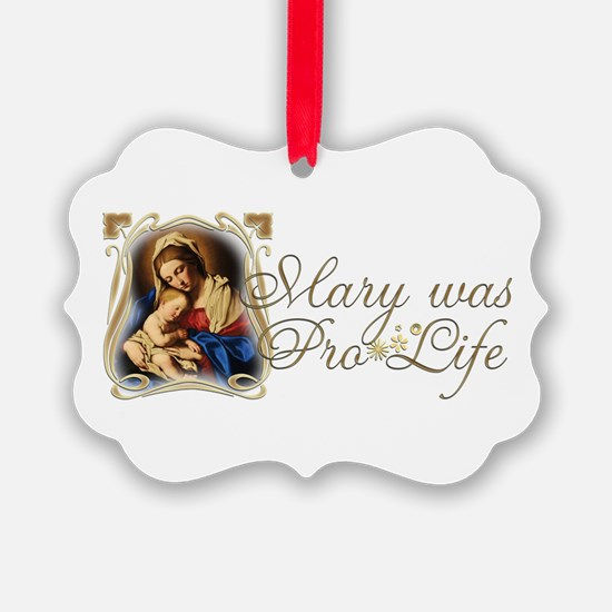 Mary was Pro-Life (vertical) Ornament