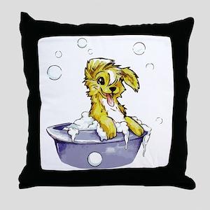 Doggie Dog Wash Throw Pillow