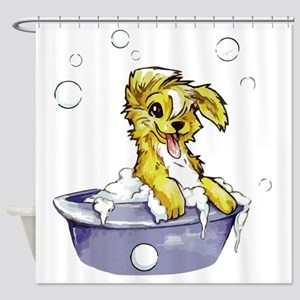 Doggie Dog Wash Shower Curtain