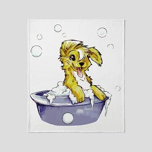 Doggie Dog Wash Throw Blanket