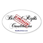 """""""Bill of Rights Cancelled"""" Oval Sticker"""