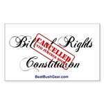 """""""Bill of Rights Cancelled"""" Rect Sticker"""