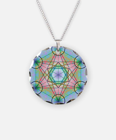 Metatron's Cube Rainbow Necklace