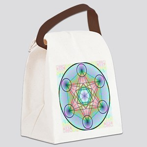Metatron's Cube Rainbow Canvas Lunch Bag