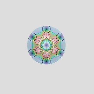 Metatron's Cube Rainbow Mini Button