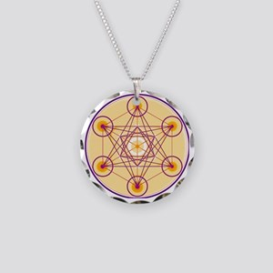 Metatron's Cube Necklace Circle Charm