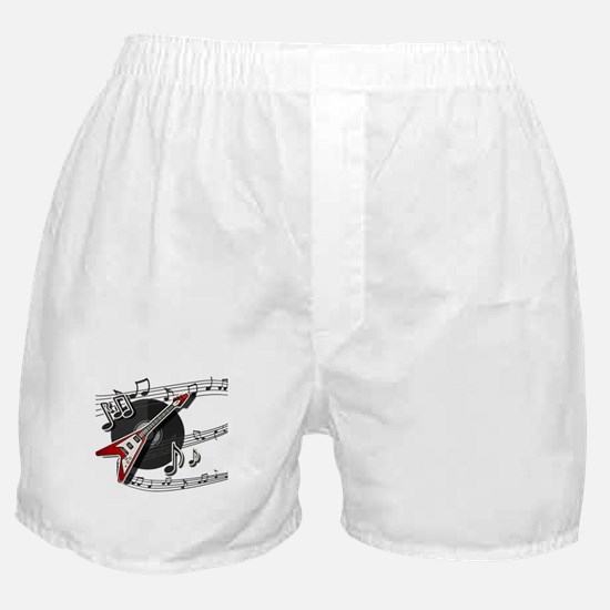 Rock and Roll Electric Guitar & V Boxer Shorts