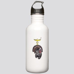 Thanksgivukkah Turkey and Menorah Water Bottle