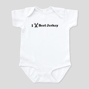 I Eat Beef Jerkey Infant Bodysuit