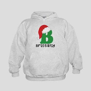 Christmas Santa Hat B Monogram Hoodie Sweatshirt