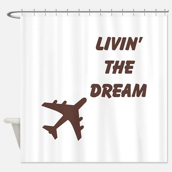 Cute Airplane Shower Curtain
