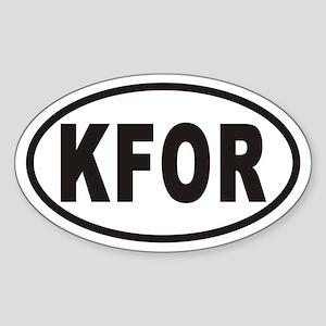 KFOR Oval Sticker