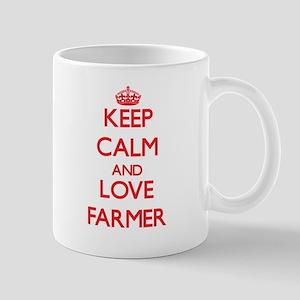 Keep calm and love Farmer Mugs