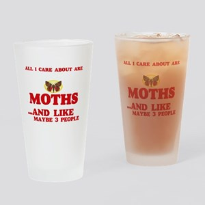 All I care about are Moths Drinking Glass