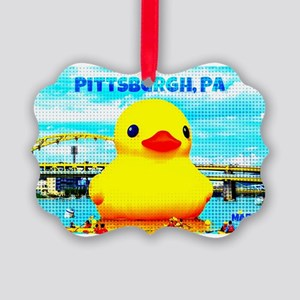 Pittsburgh, PA Duck Ornament