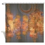 Expansion Night Sky Shower Curtain