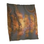 Expansion Night Sky Burlap Throw Pillow