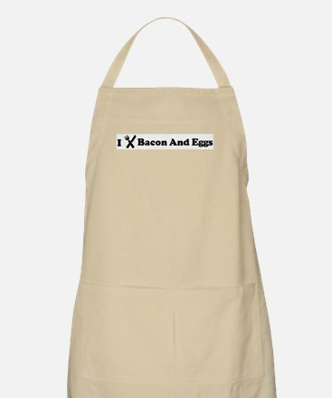 I Eat Bacon And Eggs BBQ Apron