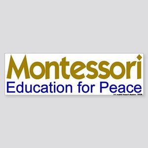 Education for Peace Bumper Sticker
