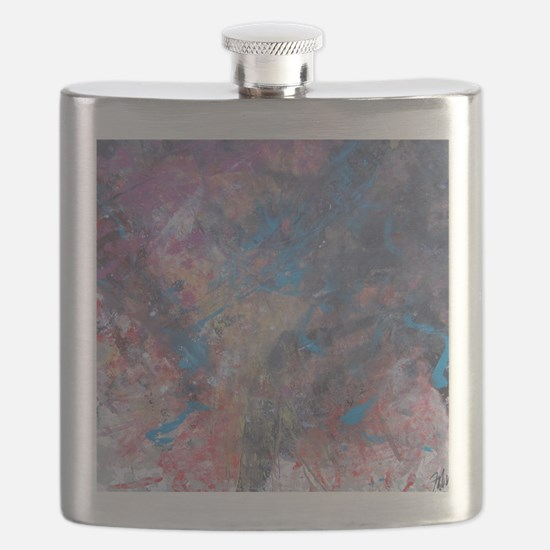 Abstract Expressions Rainbow Art Flask