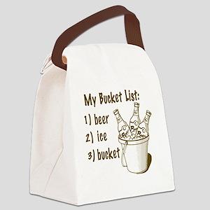 My Beer Bucket List Canvas Lunch Bag
