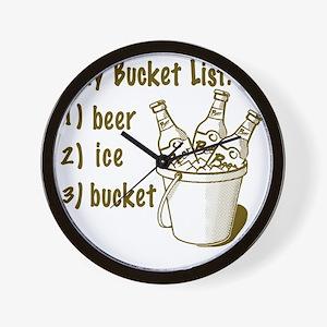 My Beer Bucket List Wall Clock