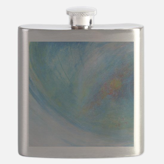 Abstract Expression Sea Foam Serenity Flask