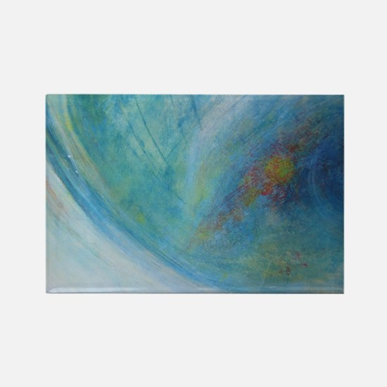 Abstract Expression Sea Foam Sere Rectangle Magnet