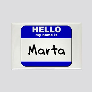 hello my name is marta Rectangle Magnet