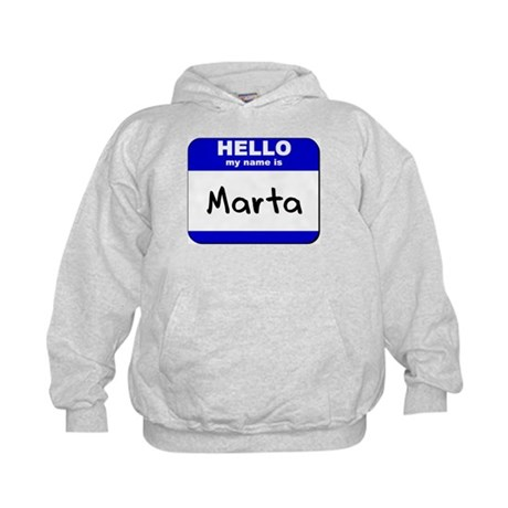 hello my name is marta Kids Hoodie