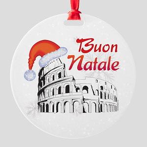 Buon Natale Round Ornament