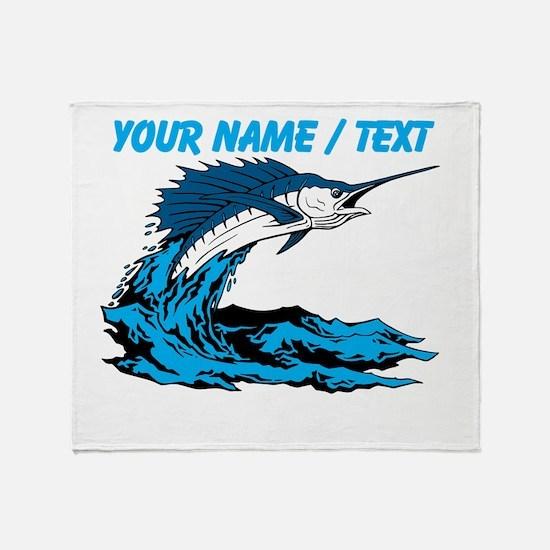 Custom Marlin Jumping Throw Blanket