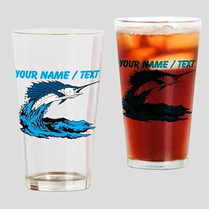 Custom Marlin Jumping Drinking Glass
