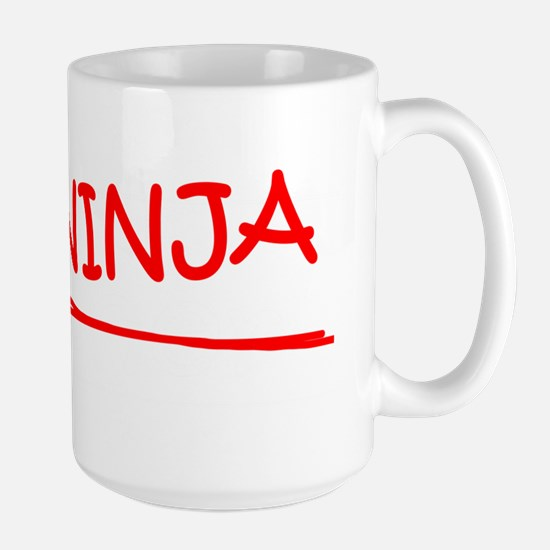 Job Ninja Teacher Large Mug