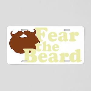 Fear the Beard - Brown Aluminum License Plate