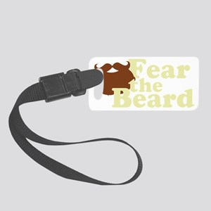 Fear the Beard - Brown Small Luggage Tag