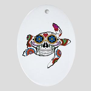 SUGAR TURTLE Oval Ornament