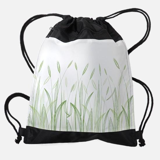 Delicate Grasses Drawstring Bag