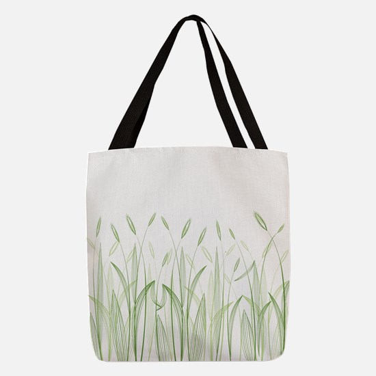 Delicate Grasses Polyester Tote Bag