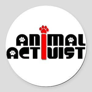 Animal Activist Round Car Magnet