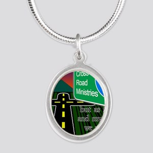 Cross Road Ministries Silver Oval Necklace