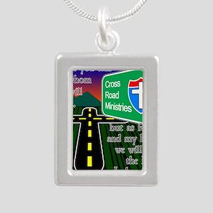Cross Road Ministries Silver Portrait Necklace